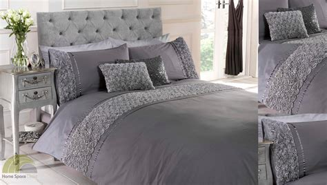 silver bedding set grey silver raised duvet quilt cover bed set bedding