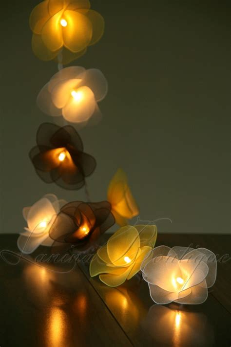 string flower lights 20 bumblebee flower led string lights