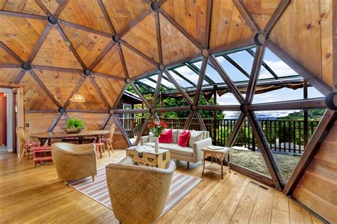 geodesic dome home spent seven years handcrafting their geodesic