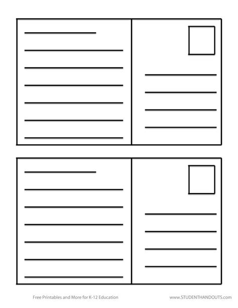 40 great postcard templates amp designs word pdf