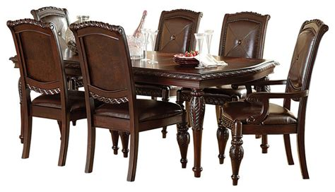 Antoinette Dining Room Set steve silver antoinette 7 piece leg dining room set in