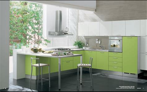 kitchen interior design ideas modern green kitchen interior design stylehomes net
