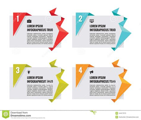 origami creative concepts origami vector banners infographic concept stock vector