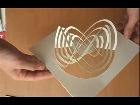how to make amazing pop up cards easy way to make a magic spinning kirigami card tutorial