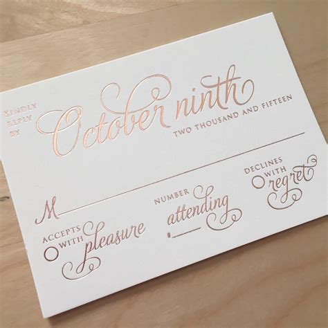 how to make rsvp cards for wedding wedding card design luxurious layout golden letterpress