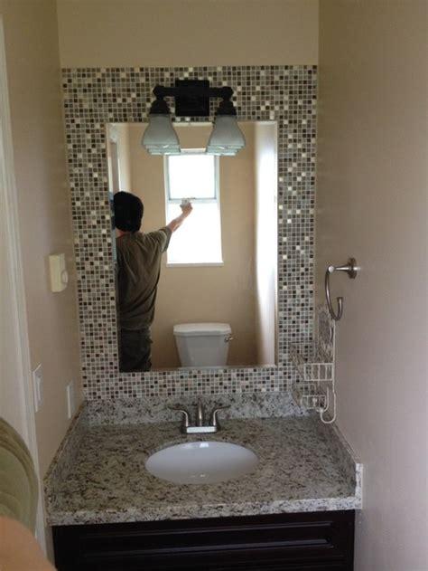 mosaic tile bathroom mirror build a mosaic tile mirror in the small bathroom