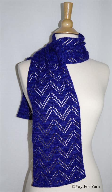 knit scarf pattern lace chevron lace scarf new knitting pattern by yay