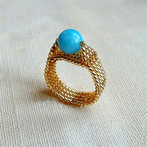 beaded ring how to make a beaded ring nbeads