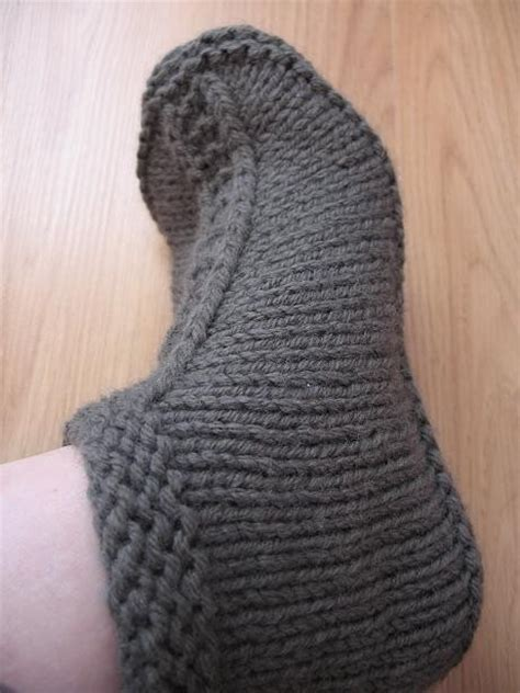 knit help request for slippers pattern pattern central
