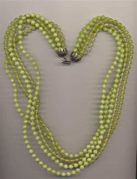 plastic bead necklaces vintage multi strand plastic imitation bead necklace made