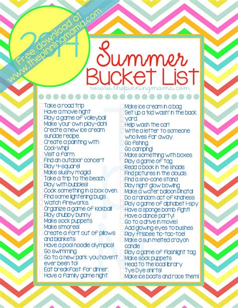 ideas for summer 2014 summer list 50 ideas activities for
