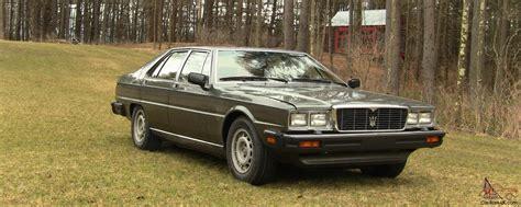 1985 maserati quattroporte upscale ultra excellent condition