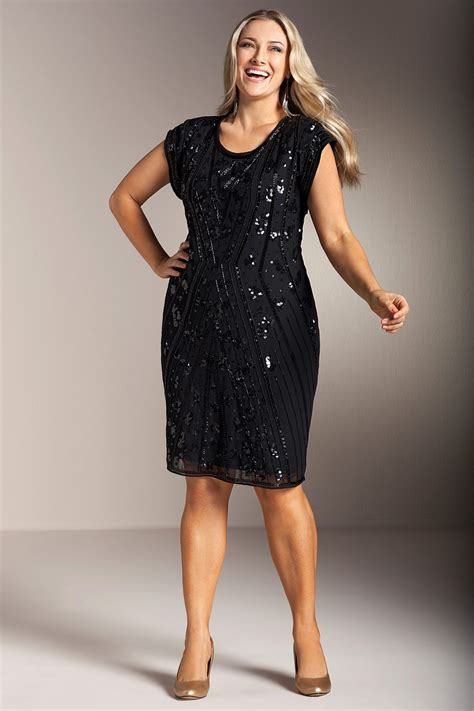 plus size beaded dress tops new womens clothes sequin dress 2015