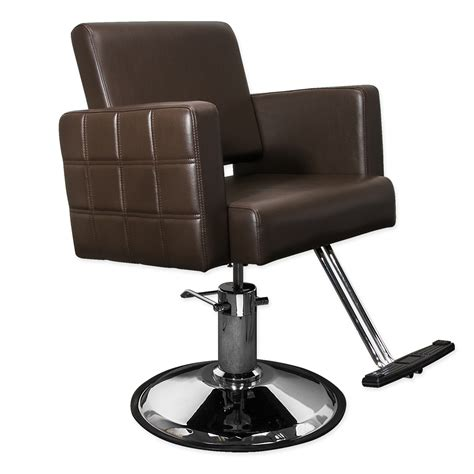 Salon Chairs by Stylist Chair Quilted Brown Hairdresser Chair