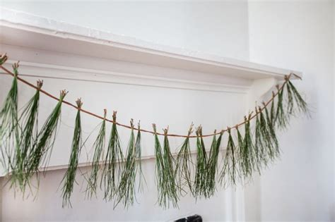 needle pine garland dress up your mantel with a pine needle garland