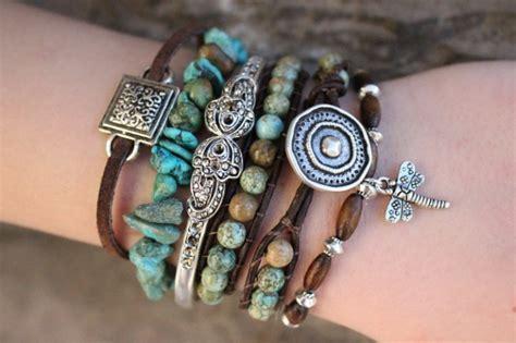 how to make boho jewelry turquoise boho bracelet stack wedding