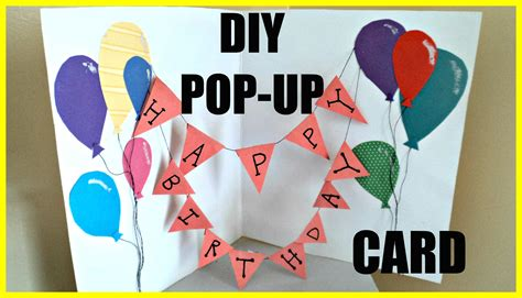 how to make a cool pop up birthday card diy pop up birthday card
