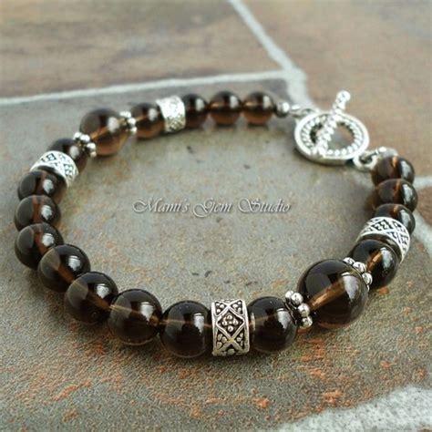 beaded bracelets for smoky quartz gemstone beaded bracelet for handmade