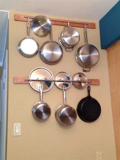 pots and pans rack home ideas pan rack kitchens and kitchen racks