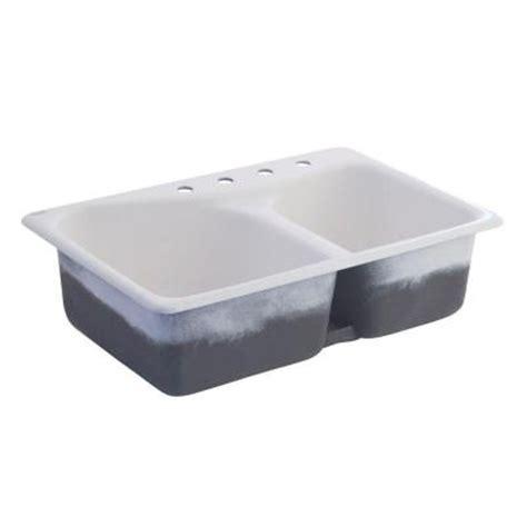 american standard cast iron kitchen sinks american standard offset top mount cast iron 33x22x9 75 4