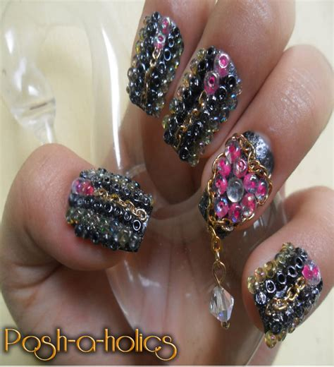 nail beading bead it nails by kawiskyoot07 on deviantart