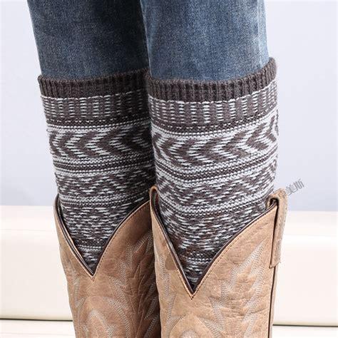 knit leg warmers for boots aliexpress buy s fall boot sock knit leg