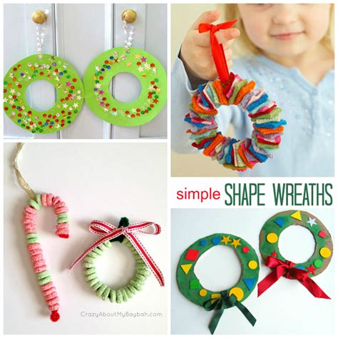 christma craft ideas wreath craft ideas for crafty morning