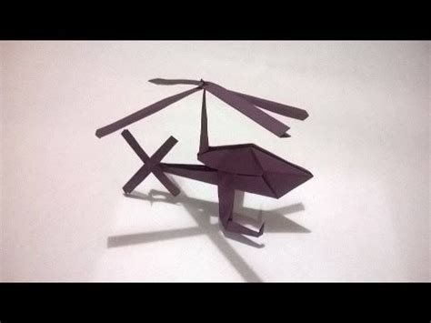 origami helicopter easy how to make a helicopter out of paper doovi