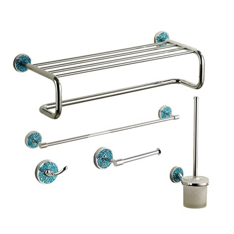 chrome bathroom accessories sets blue chrome designer bathroom accessories sets