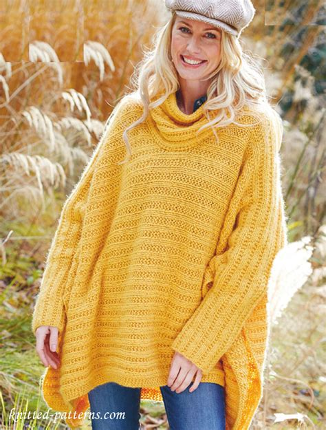 poncho pattern knit in the poncho jumper knitting pattern free