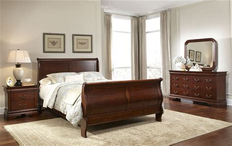 sleigh bed set carriage court sleigh bed 6 bedroom set in mahogany