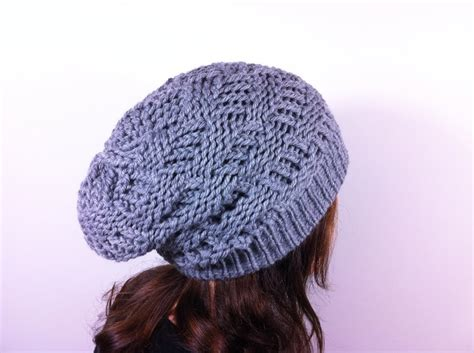 how to knit a slouchy hat loom knit slouchy hat patterns a knitting
