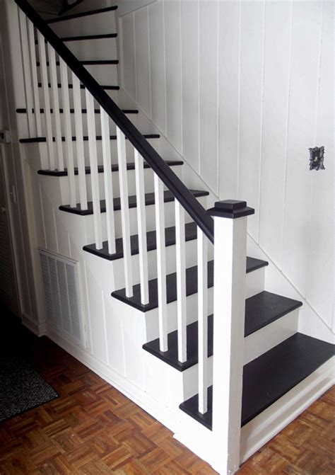 black staircase remodelaholic black and white painted staircase