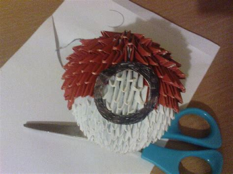how to make an origami pokeball 3d origami pokeball by aznlancelot on deviantart