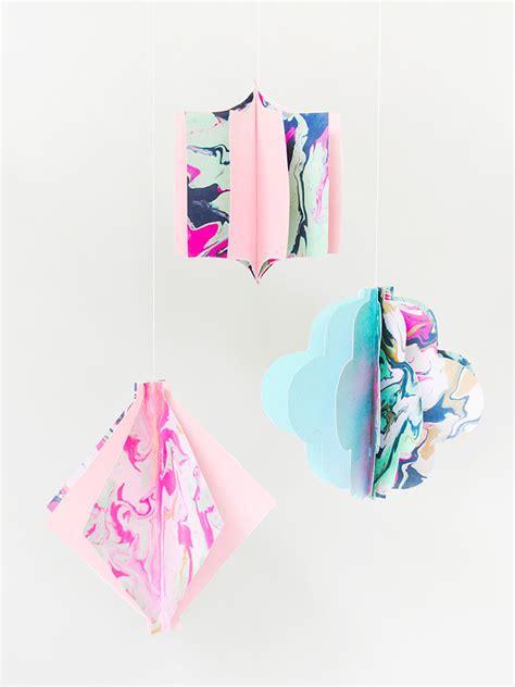 marbled paper craft diy marbled paper lanterns handmade colormag