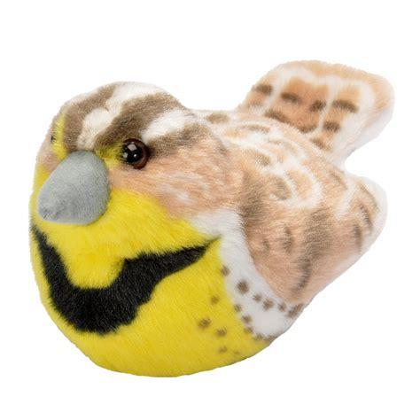 bird stuffed animals western meadowlark audubon stuffed animal with bird song