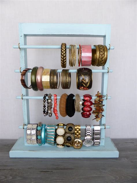 how to make jewelry stand shabby chic bracelet holder standing jewelry display