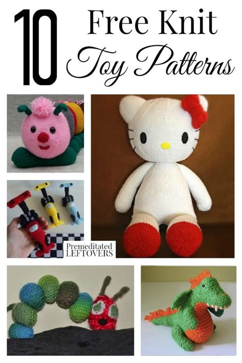 knitted toys patterns free 10 free knit patterns