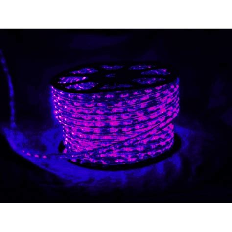 black light led led rope lighting rolls 2 wire 120v black