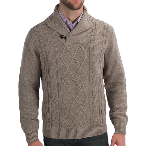 mens cable knit sweaters wool shawl collar sweater sweater jacket