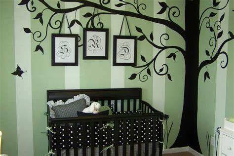 Splashy Tree Stencil Mode Nashville Modern Kids Decorating