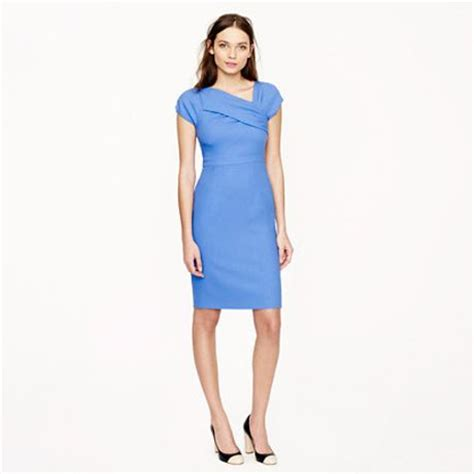 j crew origami dress j crew origami dress in wool crepe in blue hydrangea