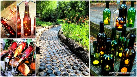 outdoor decorating 19 sustainable diy wine bottle outdoor decorating ideas