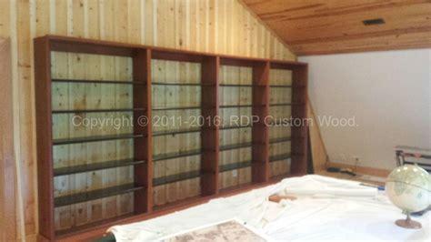 custom wood shelves custom built book shelves 171 rdp custom wood