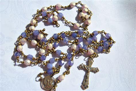sacred rosary purple sacred of jesus rosary