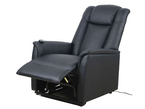 fauteuil de relaxation et releveur 233 lectrique max coloris noir en pu vente de tous les