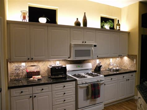 lighting above kitchen cabinets warm white backlight modules cabinet lighting