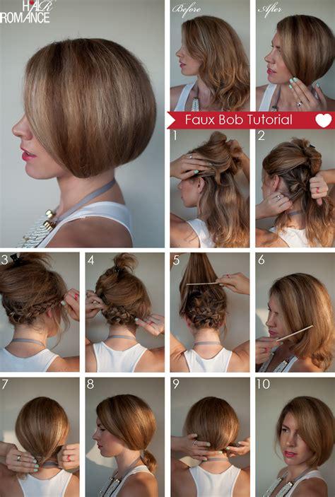 hair tutorial hair tutorial how to create a faux bob hair