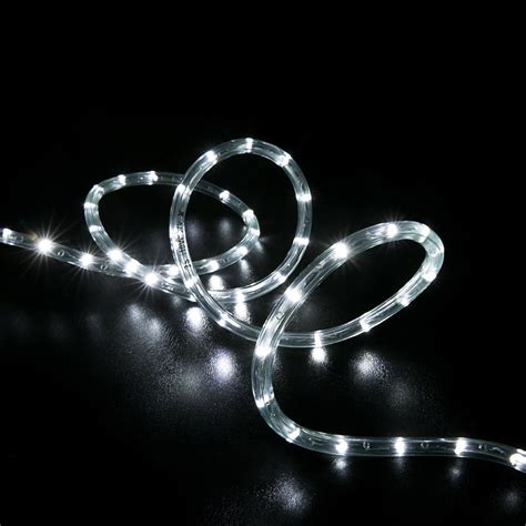 cool white rope lights 150 cool white led rope light home outdoor