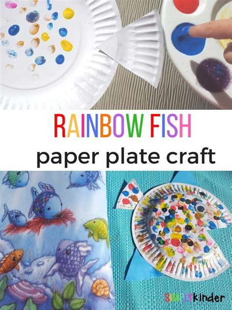fish paper plate craft rainbow fish paper plate craft simply kinder